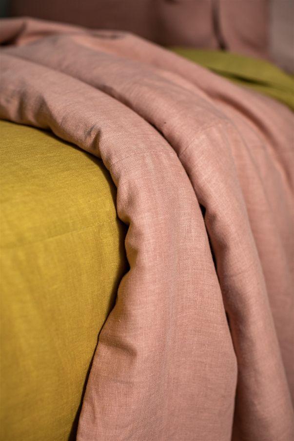 Reversible Linen Bedspread
