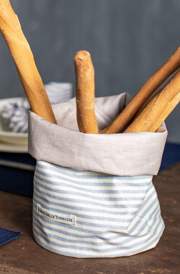 Antistain Linen Breadbasket