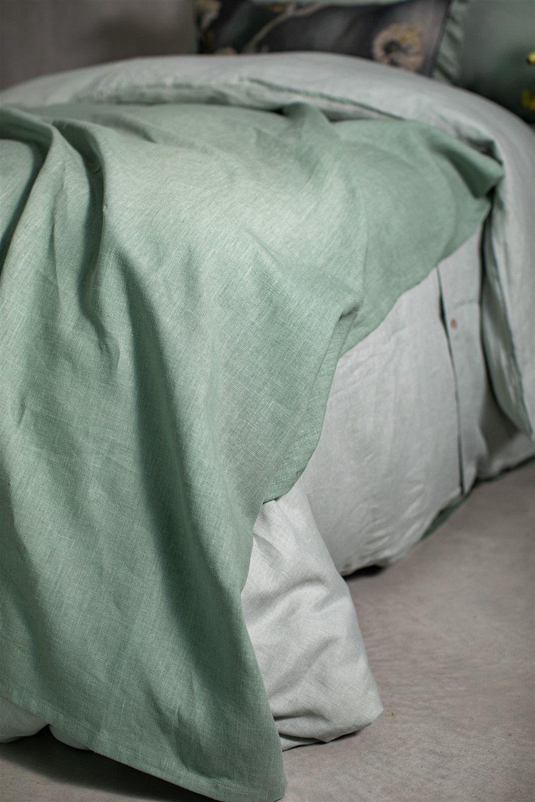 Unlined Linen Bedcover Pure