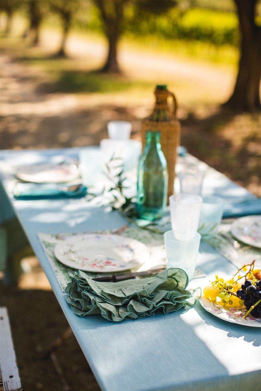 Antistain Linen Tablecloth Bauhaus