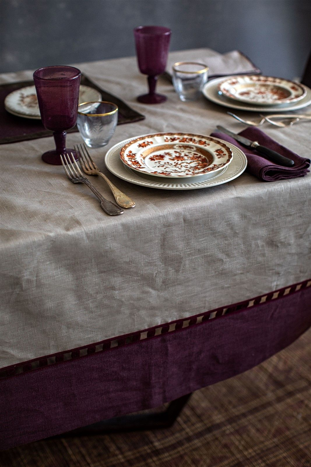 Antistain Linen Tablecloth Riviera