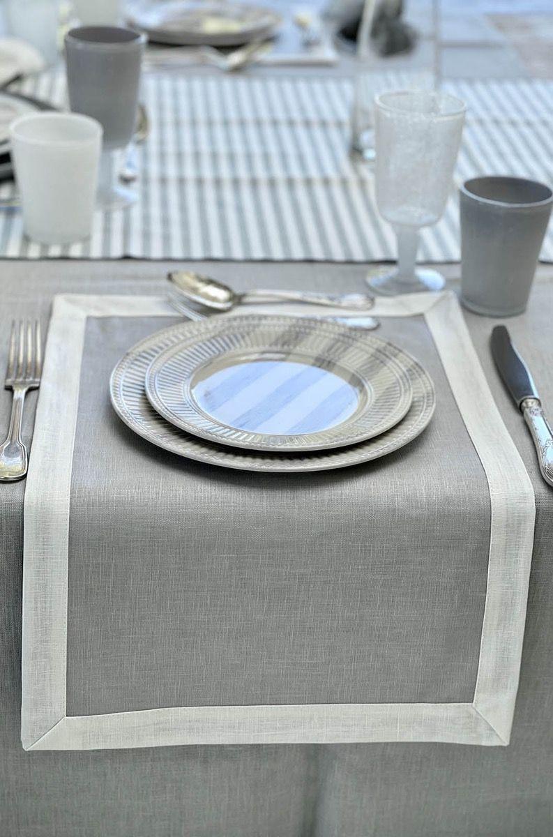 Antistain Linen Tablemat Bauhaus