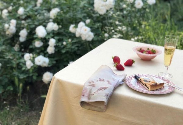 How to set a table in the garden