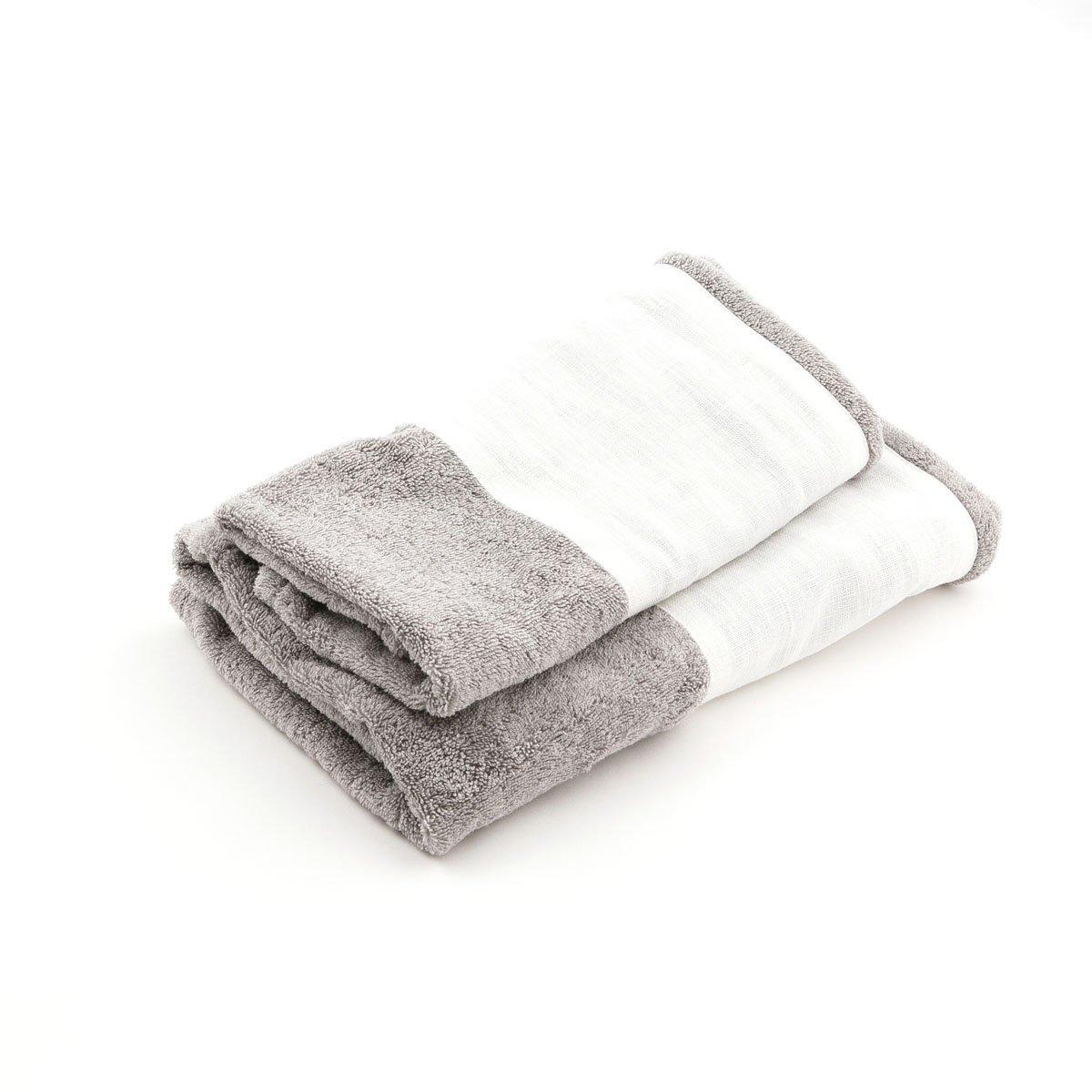 Asciugamano Bauhaus grigio stone bianco