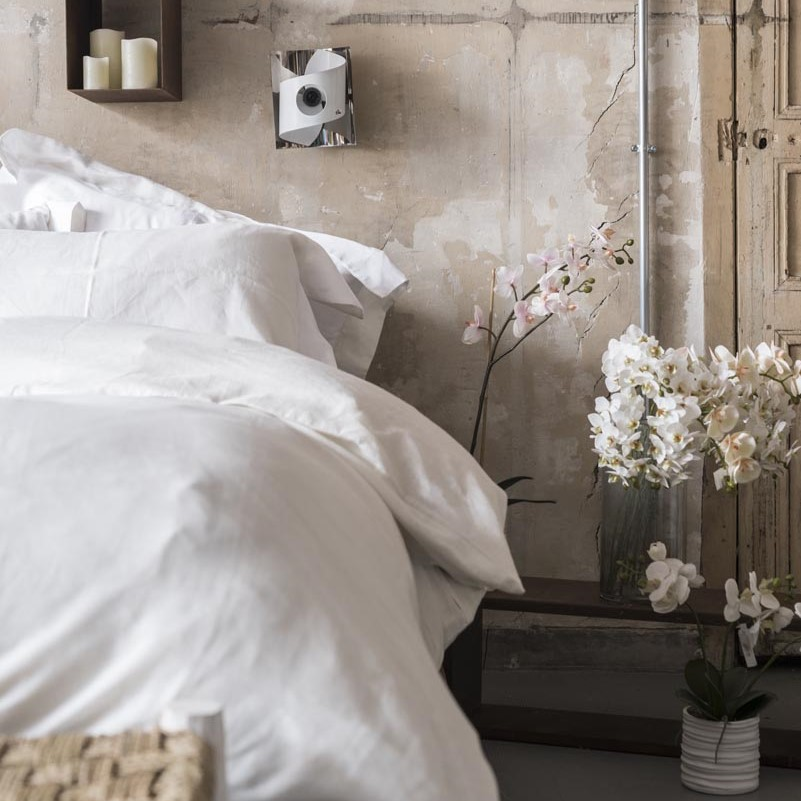 Lenzuolo in lino – Bianco Avorio